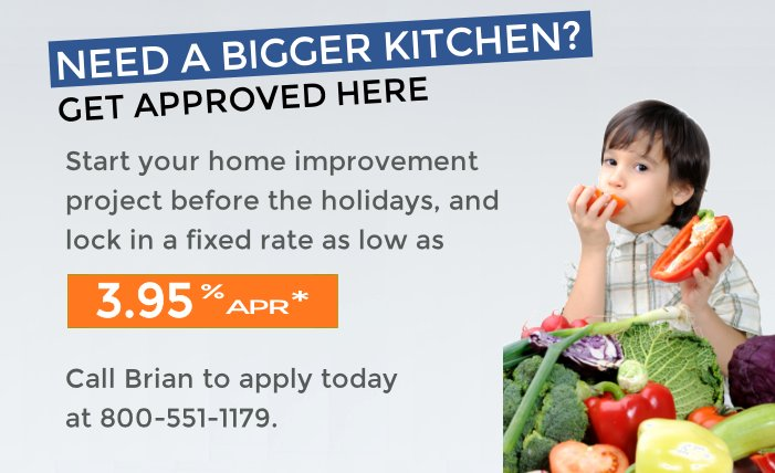 Get a bigger kitchen with a Home Equity Loan from FCEFCU